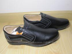 Туфлі шкіряні на хлопчика шкільні Kangfu C-1006-2 черевики класичні туфли