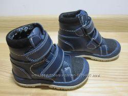 Демісезонні черевики на хлопчика Тм Берегиня 2714 шкіряні, р. 21-25 Ботинки