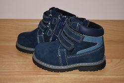 Демісезонні черевики на хлопчика Biki шкіряні, р. 21-26 арт.7470-А Ботинки
