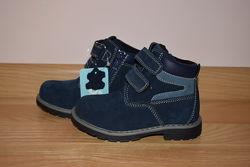 Демісезонні черевики на хлопчика Biki шкіряні, р. 25-30 арт.7472-А Ботинки
