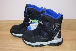 Термо черевики B&G HL21-2-01 для хлопчика зимові терміки біджи зимние термо