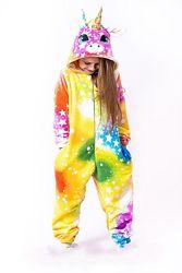 Единорог радужный, звездный , пижама, кигуруми