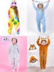 Кигуруми мышка, лисичка, зайчик, единорог новогодний костюм