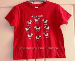 Фирменная футболка 110-116 см.