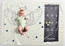 Одеяло плед фотофон реквизит для фотосессии детей младенцев на выписку