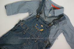 Комплект с джинсовым комбинезоном