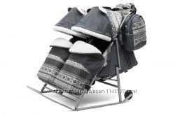 Санки-коляска для двойни Twin