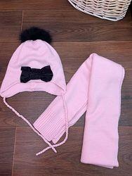 Комплект - шапка и шарф wojcik 50-52 см, 4-5-6 лет