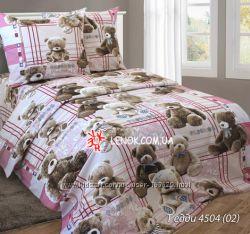 Постельный комплект мишки Тедди 1, 5спальный