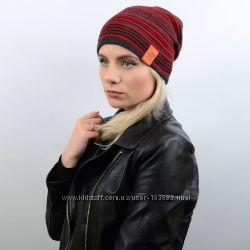 Двухсторонняя шапка-чулок спортивного стиля в разных цветах
