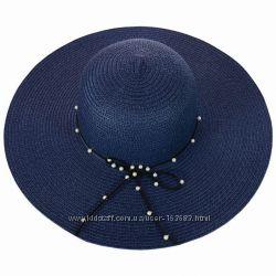 Соломенная широкополая женская шляпа, цвета разные