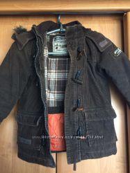 Вельветовое зимнее пальто рост 110см