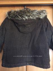Вельветовое пальто рост 110см