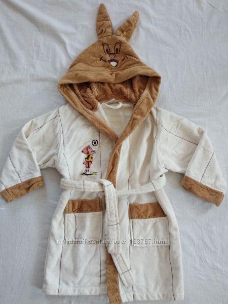 Махровый халат Зайка