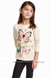 Реглан с бабочками H&M