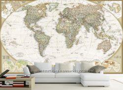 Фотообои Карта мира, фотошпалери мапа світу
