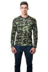 Реглан, футболка с длинным рукавом, пиксель, камуфляж