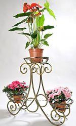 Подставки кованые для цветов, Сани 3 горка