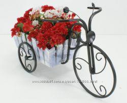 Кованая подставка для цветов Велосипед малый 1 Кантри