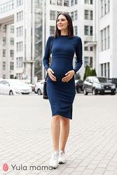 Стильное платье для беременных и кормящих из трикотажа-резинка