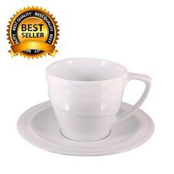 Чашка для завтрака с блюдцем фарфоровая  Berghoff 400 мл 1690209