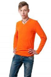 Реглан с V вырезом футболка с длинным рукавом, все цвета, хлопок