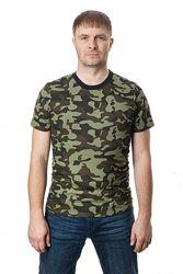 Футболка мужская классическая армейская, камуфляж, пиксель
