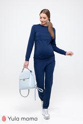 Базовый спортивный костюм для беременных и кормящих из трикотажа с начесом.