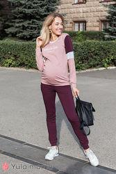 Удобный костюм для беременных и кормящих с контрастными вставками,3 цвета
