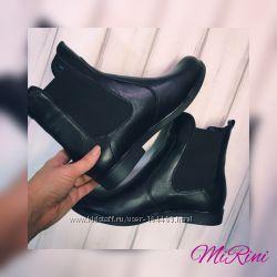Кожаные ботинки с резинкой. Хит