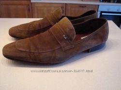 Замшевые туфли Moreschi