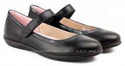 Школьные туфли ECCO экко 33р кожа черные для девочки