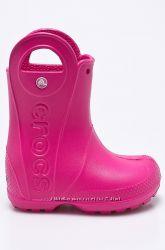 Детские резиновые сапоги Crocs J2 33-34р розовые croslite