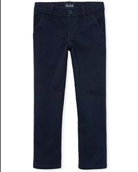 Школьные брюки скинни для девочки Children&acutes place 10р синие 8-10 лет