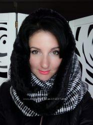 Универсальный шарф головной убор снуд, хомут, труба