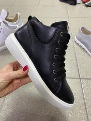 Ботинки на байке кроссовки черные, 6709