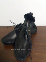 Кожаные мокасины туфли р 38