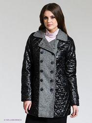 Полупальто comma пальто стеганное с шерстью комбинированное