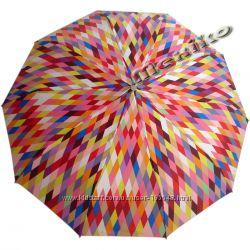 Бесплатная доставка Красивый зонт ZEST полуавтомат, серия 10 спиц, Ромбы