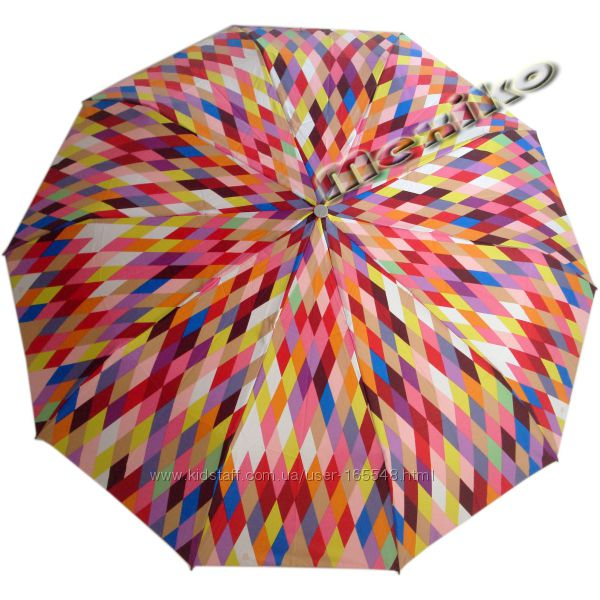 Красивый зонт ZEST полуавтомат, серия 10 спиц, Ромбы