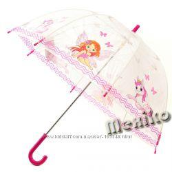 Прозрачный детский зонт Zest, произв. Англия. Расцветка Фея с лошадкой