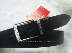 Стильный черный кожаный ремень LEVIS