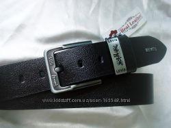 Стильный черный кожаный ремень LEVIS, произв. Турция