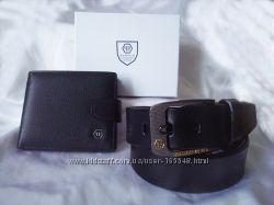Шикарный подарок. Кожаный кошелек и ремень PHILIPP PLEIN