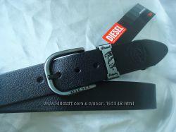 Модные черные кожаные ремни DIESEL