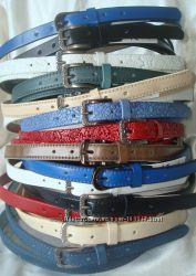 Модные тонкие кожаные ремни. Разные цвета