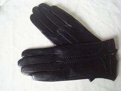 Женские кожаные перчатки, подкладка шерстяная вязка, Румыния
