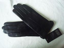 Кожаные перчатки, подкладка шерстяная вязка, Румыния