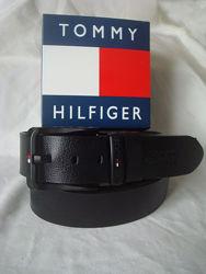 Модный кожаный ремень в коробке Tommy Hilfiger
