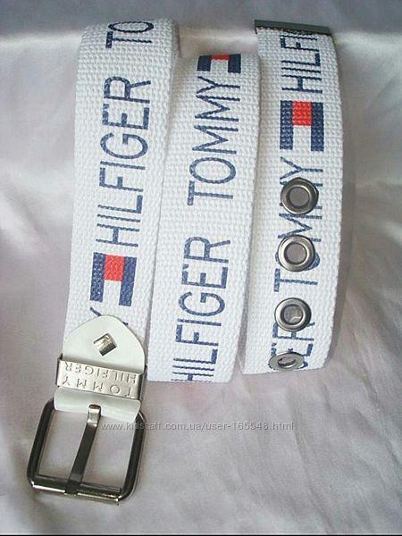 Модные тканевые ремни  Tommy Hilfiger. В наличии